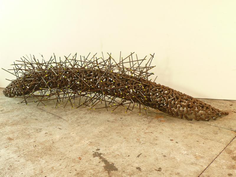 Jaartal 2012 materiaal gelast staal L 200 cm H 45 cm